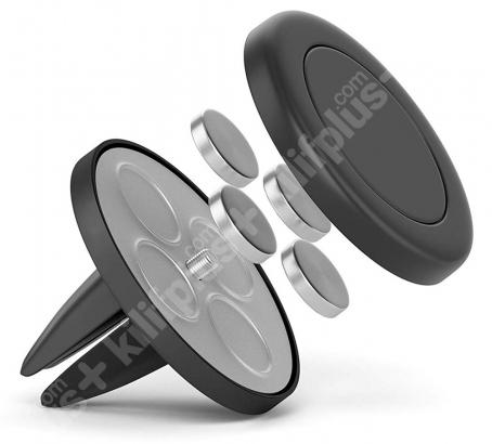 CRH-01 Mıknatıslı Araç Telefon Tutucu Havalandırma Girişli - Siyah