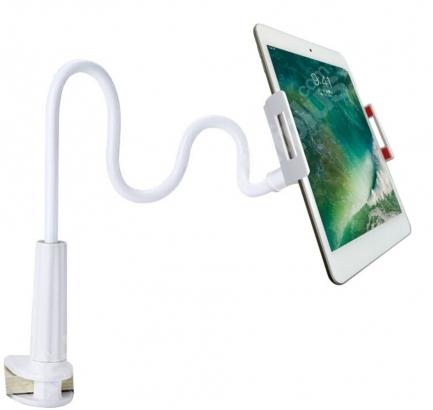 Ergonomik 360 Dönebilen Masa Tablet Telefon Tutucu - Beyaz