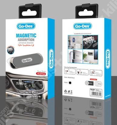Go Des GD-HD636 Mıknatıslı Araç Ev Ofis Masa Telefon Tutucu - Siyah