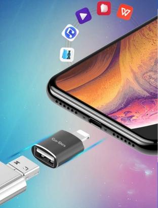 Go-Des USB To Lightning Çeviri OTG GD-CT056 - Siyah