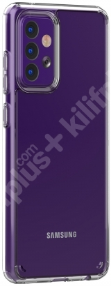 Samsung Galaxy A72 Kılıf Korumalı Kenarları Silikon Arkası Sert Coss Kapak  - Şeffaf