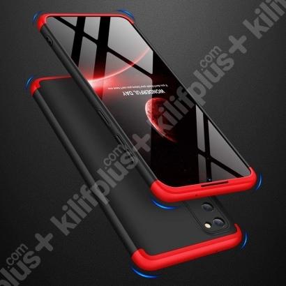 Samsung Galaxy S20 FE Kılıf 3 Parçalı 360 Tam Korumalı Rubber AYS Kapak - Gri Siyah