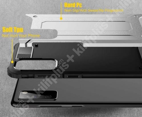 Samsung Galaxy S20 FE Kılıf Zırhlı Tank Crash Silikon Kapak - Gümüş