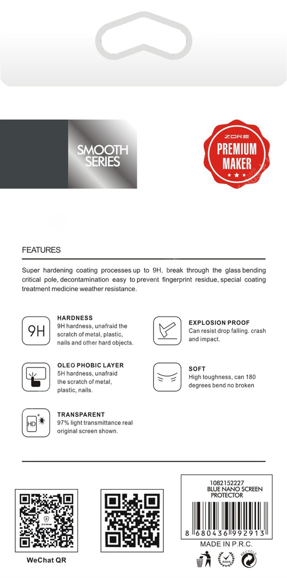 Oppo A54 Ekran Koruyucu Blue Nano Esnek Film Kırılmaz - Şeffaf