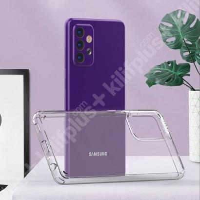 Samsung Galaxy A52 Kılıf Korumalı Kenarları Silikon Arkası Sert Coss Kapak  - Şeffaf