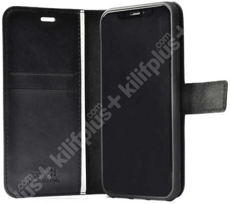 Samsung Galaxy A72 Kılıf Standlı Kartlıklı Cüzdanlı Kapaklı - Kırmızı