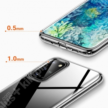 Samsung Galaxy S20 FE Kılıf Esnek Süper Silikon Kamera Korumalı 0.3mm - Şeffaf