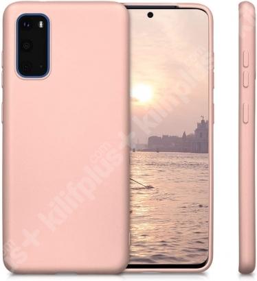 Samsung Galaxy S20 FE Kılıf İnce Mat Esnek Silikon - Gold
