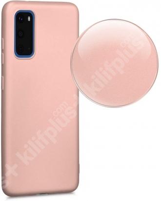 Samsung Galaxy S20 FE Kılıf İnce Mat Esnek Silikon - Kırmızı