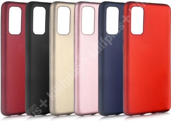 Samsung Galaxy S20 FE Kılıf İnce Mat Esnek Silikon - Rose Gold
