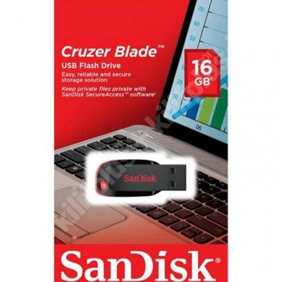 SanDisk Cruzer Blade 16GB Usb Bellek - Siyah