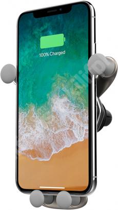 Voero X6 Serisi Wireless Kablosuz Şarj Araç Telefon Tutucu - Gümüş