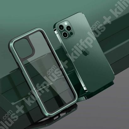 Wiwu Apple iPhone 12 Pro Max (6.7) Kılıf Defence Armor Serisi Arkası Şeffaf Lisanslı Kapak - Yeşil