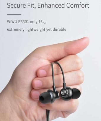 Wiwu Earbuds 301 Apple Lightning Kulaklık - Siyah