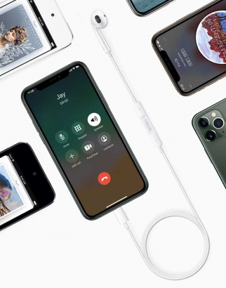Wiwu Earbuds 303 Serisi Apple Lightning Kulaklık - Beyaz