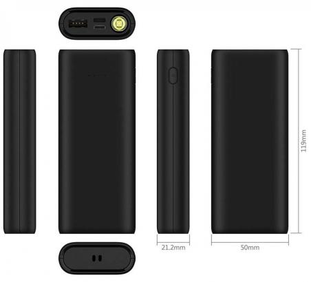 Wiwu Firefly 10000 Mah Type-C Powerbank - Siyah