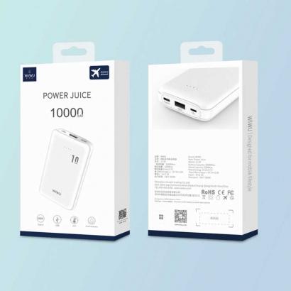 Wiwu JC-02 10000 Mah Powerbank - Beyaz