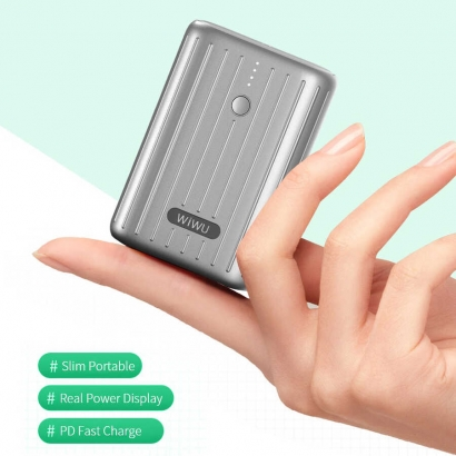 Wiwu JC-08 Remowa 10000 Mah Mini Powerbank - Siyah