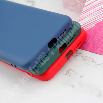 Xiaomi Mi 10T Pro Kılıf Liquid Serisi İçi Kadife İnci Esnek Silikon Kapak - Siyah