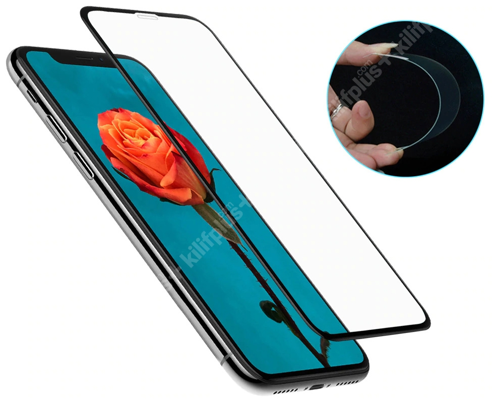 Xiaomi Redmi 9T Ekran Koruyucu Fiber Tam Kaplayan Nano - Siyah