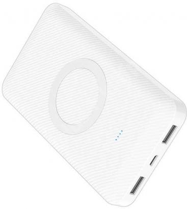 Xipin WS-T33 10000 mAh Wireless(Kablosuz) Powerbank LED Göstergeli - Beyaz