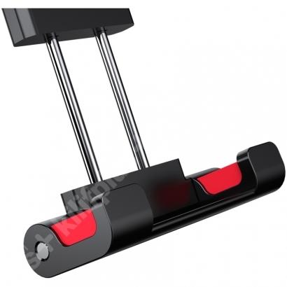 Zore PB-45 Araç Koltuk Arkası iPad Tablet Telefon Tutucu - Kırmızı Siyah