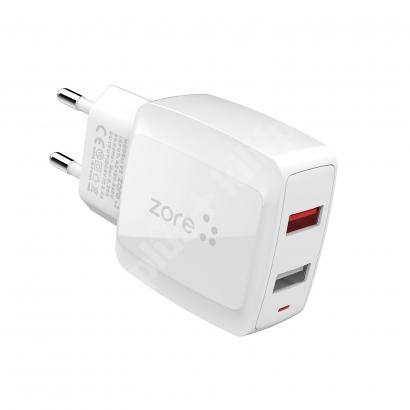 Zore Vest Serisi V2 Apple Lightning 2 in 1 Hızlı Şarj Seti 2.4A/12w - Beyaz