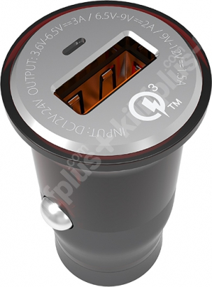 Zore ZR-C304Q Micro-USB Hızlı Araç Şarj Seti Q.C 3.0 - Siyah